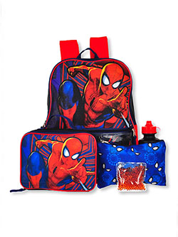 Spider-Man 5-Piece Backpack & Accessories Set by Marvel in Multi