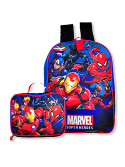 Superheroes Backpack & Lunchbox Set by Marvel in Multi, School Uniforms