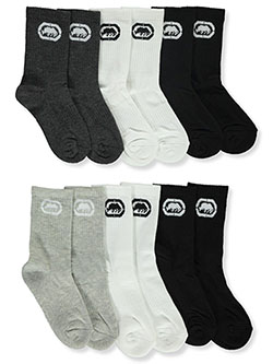 Boys' 6-Pack Cushion Crew Socks by Ecko Unltd. in Black/white/gray, Toddler:::Youth