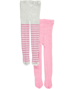 "Girls Tights Baby Girls' ""Solid & Stripe"" 2-Pack Tights - CookiesKids.com"