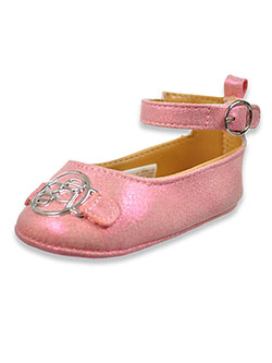 Baby Girls' Glitter Logo Mary Jane Shoes by Bebe in Pink - $28.00