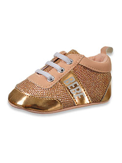Babe Baby Girls' Gold Mesh Low Top Booties by Bebe in Rose