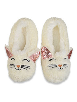 Girls' Character Slippers by Chatties in White/multi