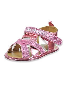 Baby Girls' Glitter Gladiator Sandals by Bebe in Pink, Infants