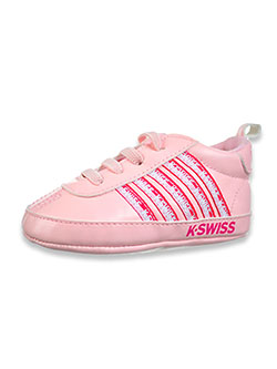 Baby Girls' Striped Sneakers by K-Swiss in Fuchsia, Infants