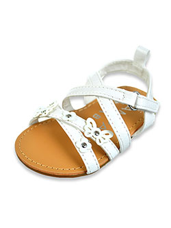 Baby Girls' Hard Sole Cross-Strap Sandals by Rampage in White, Infants