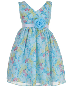 "Good Girl Little Girls' ""Blushing Blossom"" Dress (Sizes 4 – 6X) - CookiesKids.com"