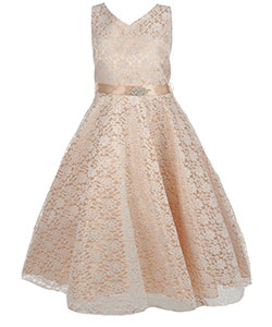 "Good Girl Big Girls' Plus ""Lace on Organza"" Dress (Sizes 12.5 – 20.5) - CookiesKids.com"