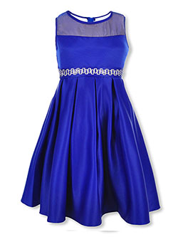 Girls' Dress by Good Girl in black and royal blue