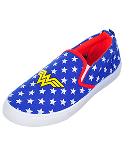 "Wonder Woman Girls' ""Starbright"" Low-Top Sneakers (Youth Sizes 13 – 5) - CookiesKids.com"
