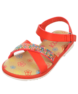 "Rya Girls' ""Bead Rainbow Strap"" Sandals (Infant Sizes 3 – 8) - CookiesKids.com"