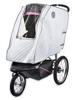 Quilted Stroller Cover by Masirs in Multi