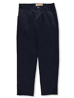 Galaxy Young Men Flat Front School Uniform Pants by Galaxy School Uniforms in khaki and navy