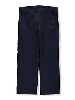Husky Double Knee Pleated Pants by Galaxy School Uniforms in Navy