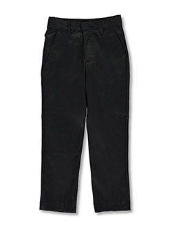 Flat Front Pants by Galaxy School Uniforms in black and gray, Sizes 2T-4T & 4-7