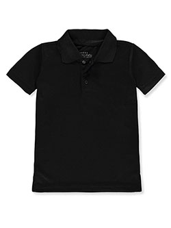 Galaxy by Harvic Boys' S/S Solid Polo by Galaxy School Uniforms in black and red
