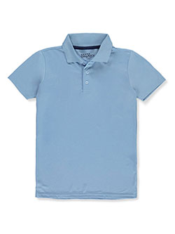 Galaxy by Harvic Boys' S/S Solid Polo by Galaxy School Uniforms in light blue and white
