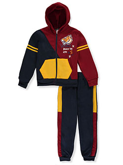 Boys' Savage 2-Piece Sweatsuit Outfit by S1ope in red/multi and wine