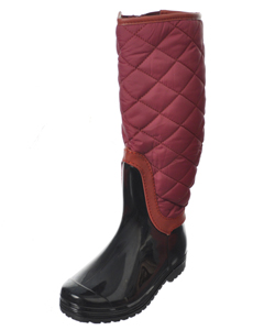 "Henry Ferrera Girls ""Quilt & Trim"" Knee-High Boots (Youth Sizes 12 – 6) - CookiesKids.com"