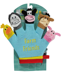 "Animal Planet ""Farm Friends"" Finger Puppet Bath Glove - CookiesKids.com"