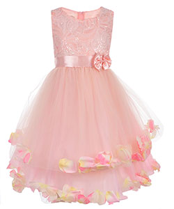 "Alexandra Big Girls' ""Tulle & Petals"" Dress (Sizes 7 – 16) - CookiesKids.com"