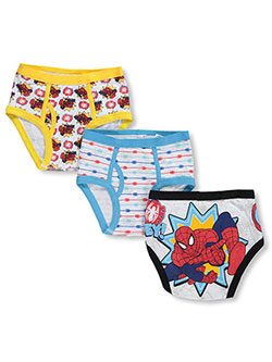 3-Pack Briefs by Spider-Man in Red/multi