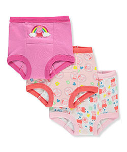 Girls' 3-Pack Training Pants & Chart Set by Peppa Pig in Pink/multi