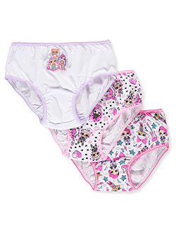 Girls' 3-Pack Bikini Panties by LOL Surprise in Pink/multi