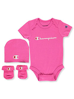Baby Girls' 3-piece Layette Set by Champion in Pink