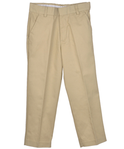 Preferred School Uniforms Big Boys' Double Knee Flat Front Pants (Sizes 8 - 20) - CookiesKids.com