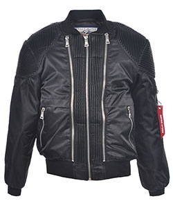 "Swiss Cross Little Boys' ""Moto Flight"" Flight Jacket (Sizes 4 – 7) - CookiesKids.com"