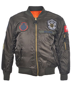 "Swiss Cross Little Boys' ""Airborne '79"" Reversible Flight Jacket (Sizes 4 – 7) - CookiesKids.com"