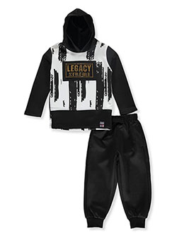 Legacy 2-Piece Sweatsuit Outfit by Phat Farm in Burgundy