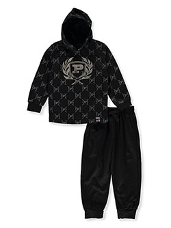 Logo Print 2-Piece Sweatsuit Outfit by Phat Farm in Multi
