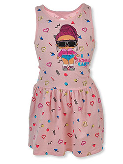 Your LOL Surprise fan will love the fun flip sunglass design of this jersey dress by LOL Surprise in Pink/multi