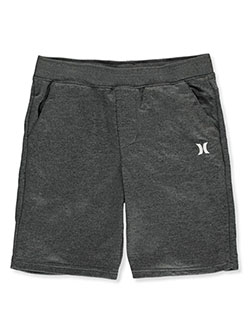 Hurley Boys' Logo Shorts by Levi's in black heather and gray