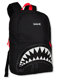 Shark Bait Backpack by Hurley in black, blue and gray