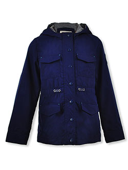 Girls' Solid Anorak by Jessica Simpson in Navy
