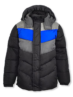 Boys' Angled Baffle Insulated Jacket by Ixtreme in black and navy