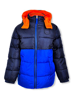 Boys' Sleeve Patch Insulated Jacket by Ixtreme in blue and red