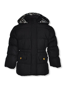 Leopard Hood Insulated Parka by Pink Platinum in Black
