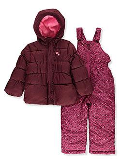 Pink Platinum Girls Dye Pattern 3-Piece Snowsuit