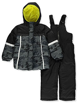 Boys' Camo Panel 2-Piece Snowsuit by Ixtreme in Black