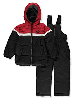 Boys' Mountain Patch 2-Piece Snowsuit by Ixtreme in black and navy