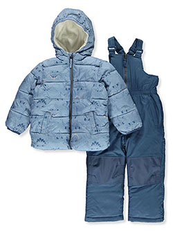 Boys' Dino Print 2-Piece Snowsuit by Ixtreme in French blue