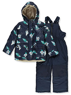 Boys' Rocket Print 2-Piece Snowsuit by Ixtreme in Navy
