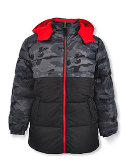 Boys' Camo Panel Insulated Parka by Ixtreme in camo and olive