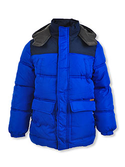 Boys' Flap Pocket Insulated Parka by Ixtreme in Royal blue