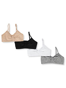 Girls' 4-Pack Seamless Bras by Marilyn Taylor in Multi