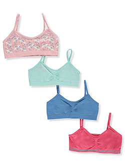 Girls' 4-Pack Seamless Sports Bras by Totally AD in Multi, Girls Fashion